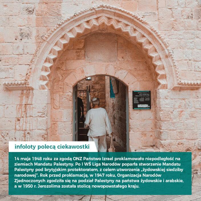 Infoloty polecają ciekawostki państwo Izrael proklamowało niepodległość w 1948 r. budynek, drzwi, ściana