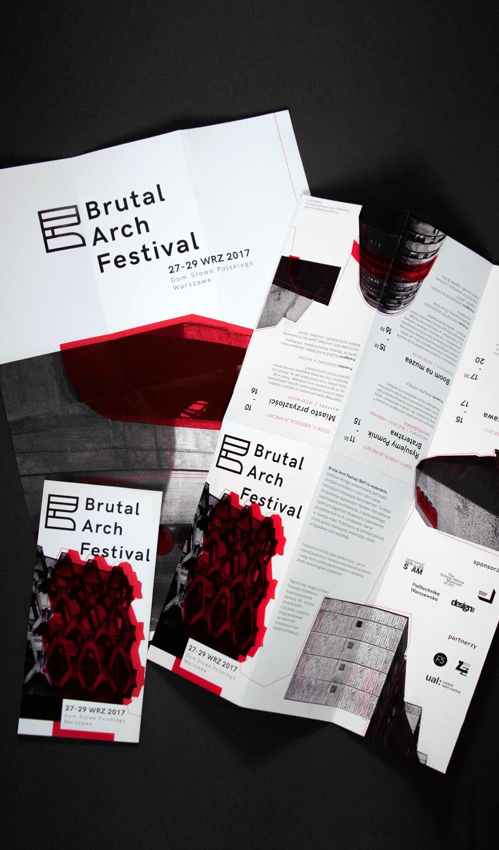 papierowe ulotki Brutal Arch Festival