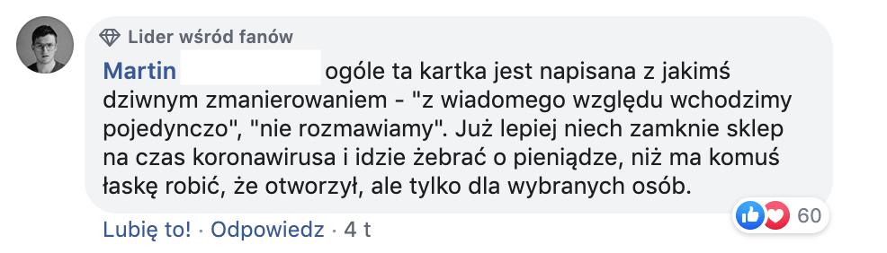 komentarz Facebook